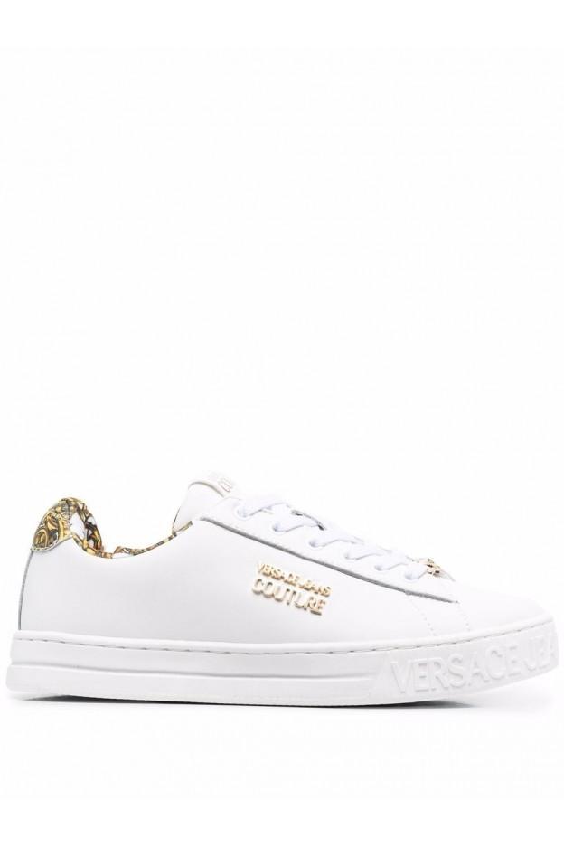 Versace Jeans Couture Sneakers Barocco Con Stampa  71VA3SKL ZP016 003 WHITE - Nuova Collezione Autunno Inverno 2021 - 2022