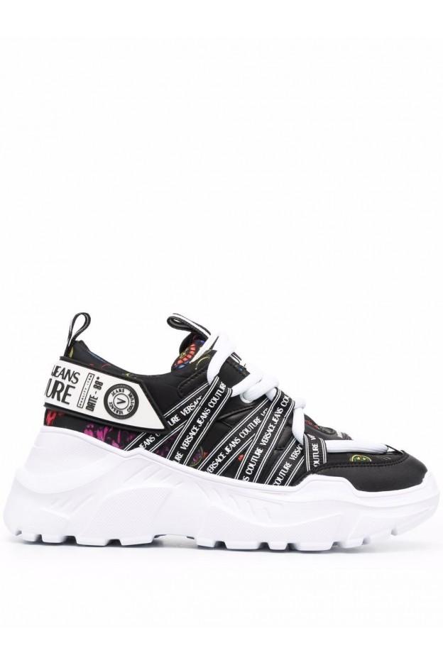 Versace Jeans Couture Speedtrack Regalia Baroque-Print Sneakers 71VA3SC6 ZS024 899 - New Season Fall Winter 2021 - 2022
