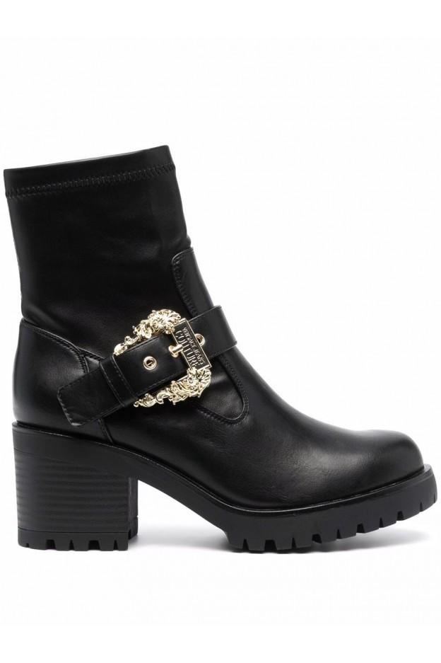 Versace Jeans Couture Stivali Con Fibbia 71VA3S92 71570 899 BLACK - Nuova Collezione Autunno Inverno 2021 - 2022