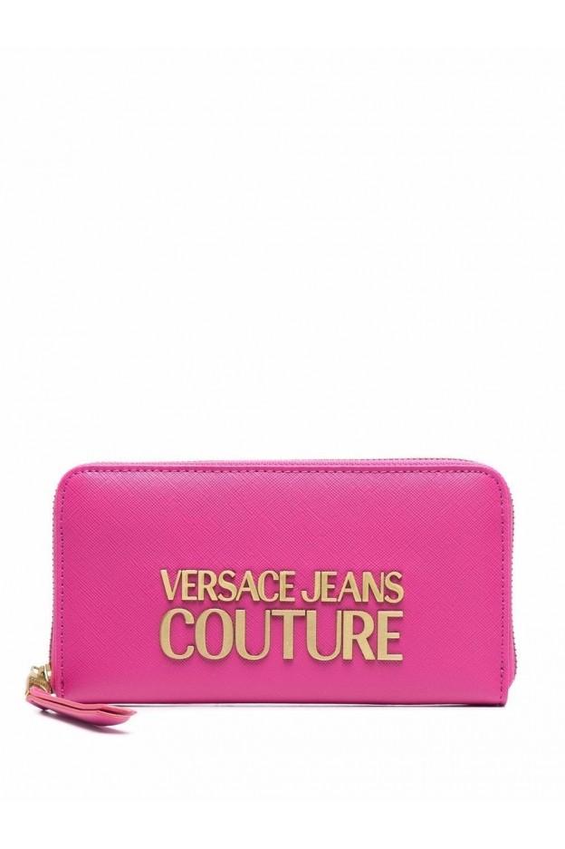 Versace Jeans Couture Logo-Plaque Wallet 71VA5PL1 71879 455 ROSA - New Season Fall Winter 2021 - 2022