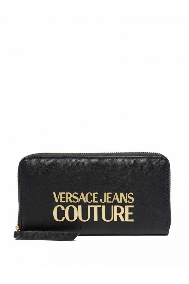 Versace Jeans Couture Logo-Plaque Wallet 71VA5PL1 71879 899 BLACK - New Season Fall Winter 2021 - 2022