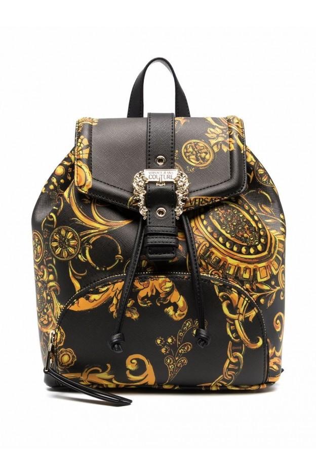 Versace Jeans Couture Zaino Barocco Con Stampa 71VA4BF8 71880 G89 BLACK GOLD - Nuova Collezione Autunno Inverno 2021 - 2022