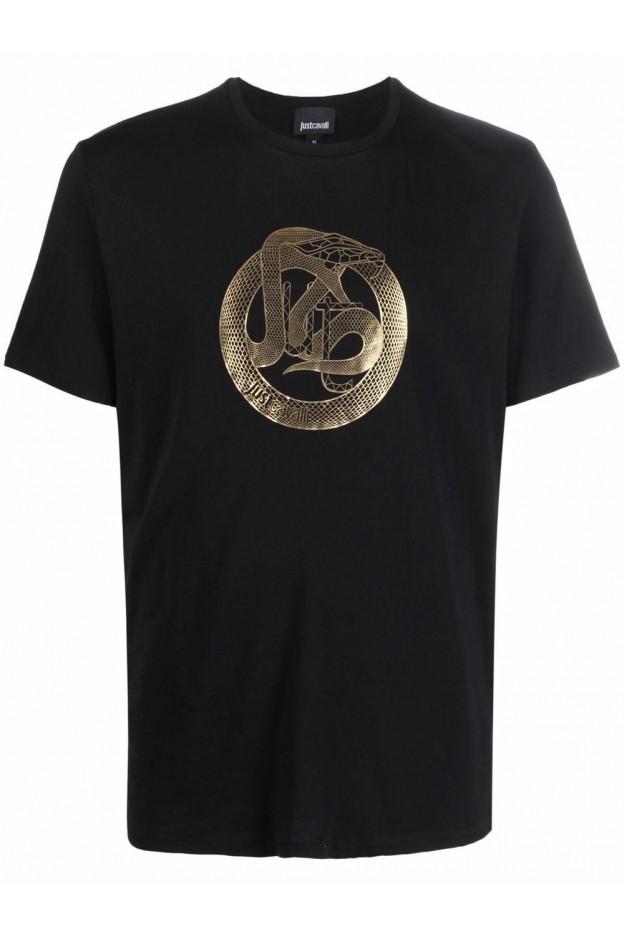 Just Cavalli T-Shirt Con Stampa  S03GC0638N20663 900 NERO - Nuova Collezione Autunno Inverno 2021 - 2022