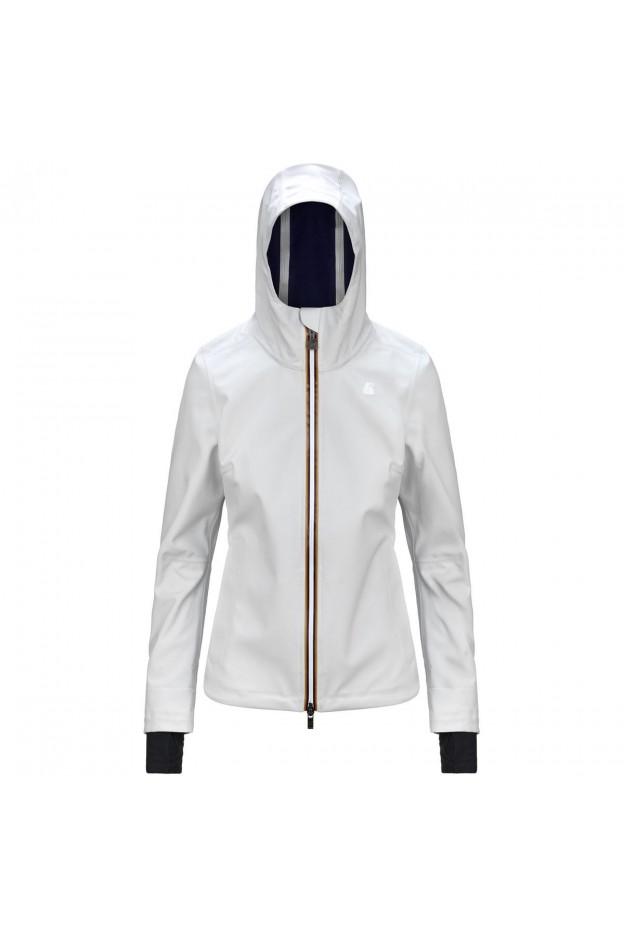 K-Way Lil Bonded K008JX0 ABF White - Donna - autunno inverno 2021 - 2022