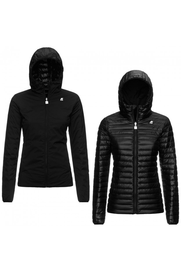 K-Way Lily Thermo Light Double K11198W USY Pure Black - Donna - autunno inverno 2021 - 2022