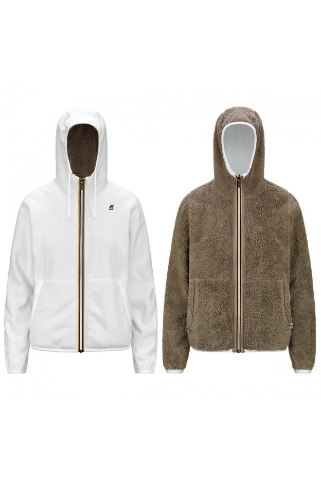 K-Way Lily Polar Double K2113HW A51 White - Beige Taupe - Donna - autunno inverno 2021 - 2022