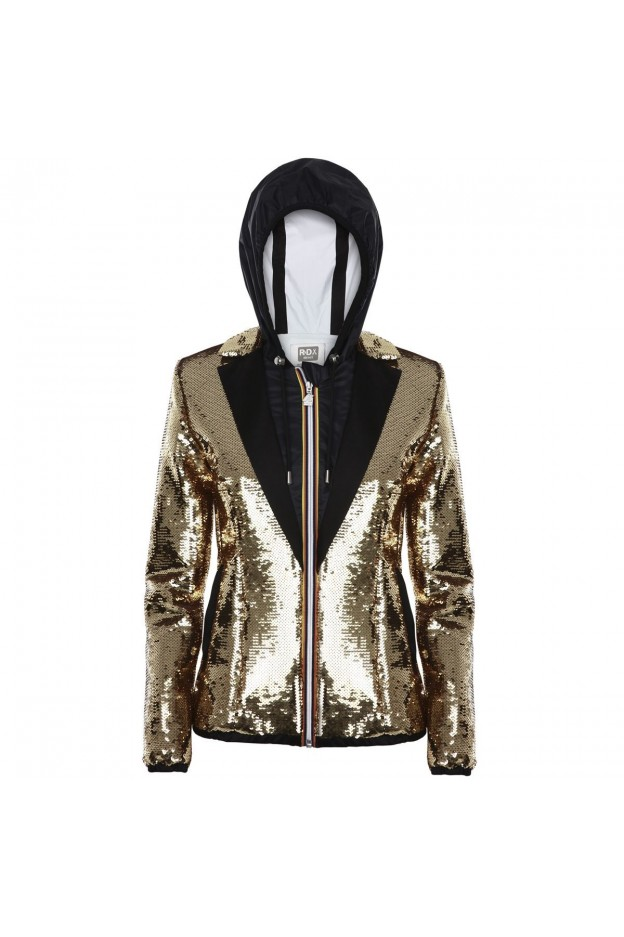 K-Way Lily Paillettes Tailor K009PC0 E32 Yellow Gold Rich - Donna - autunno inverno 2021 - 2022