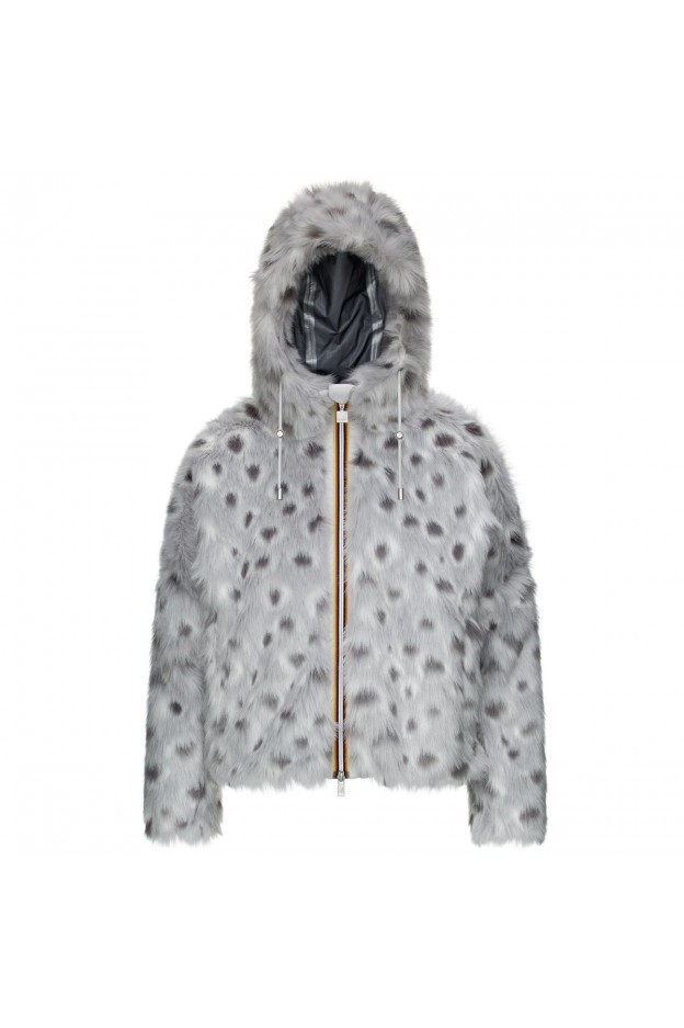 K-Way Marie Peluches Snow Leopard K7114FW A5V-Snow Leopard - Donna - autunno inverno 2021 - 2022