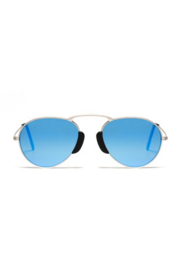 L.G.R. Occhiali Agadir Silver Matt 00 / Blue Mirror