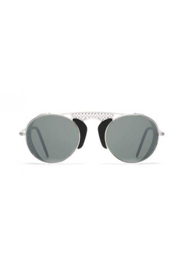L.G.R. Albatros Sunblasses Silver Matt 00 / Flat Silver Mirror