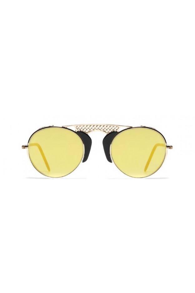 L.G.R. Occhiali Albatros Black 01 / Flat Gold Mirror